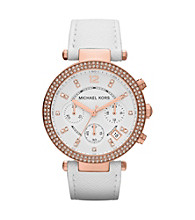 Michael Kors® White Parker Watch
