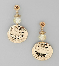 Laura Ashley® Goldtone Beaded Cluster Post Top Earrings