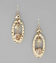 Laura Ashley® Goldtone Linear Drop Earrings