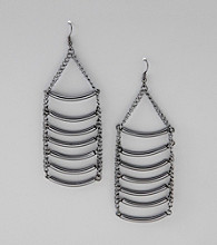 Relativity® Hematite Chandelier Earrings