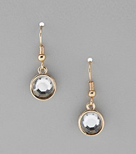 Studio Works® Goldtone Faceted Drop Earrings