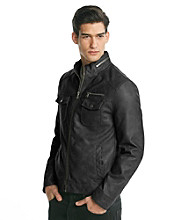 Kenneth Cole REACTION® Men's Black Faux Leather Jacket