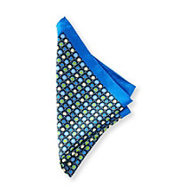 Kenneth Roberts Platinum® Men's Navy Multi-Dot Pocket Square