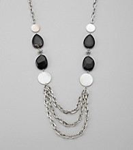 Laura Ashley® Silvertone Chain Linked Necklace