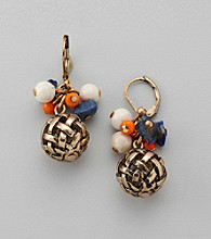 Laura Ashley® Colored Beaded Drop Earrings