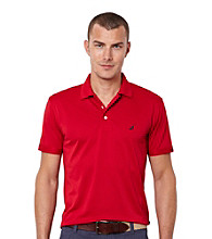 Nautica® Men's Short Sleeve Pique Solid Deck Polo
