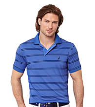 Nautica® Men's Short Sleeve Pique Stripe Deck Polo