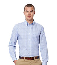 Nautica® Men's French Blue Long Sleeve Glenplaid Button Down Shirt