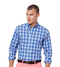 Nautica® Men's French Blue Long Sleeve Plaid Woven