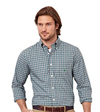 Nautica® Men's Parrot Green Long Sleeve Poplin Woven