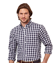 Nautica® Men's Navy Long Sleeve Multi-Plaid Woven