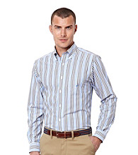 Nautica® Men's French Blue Long Sleeve Stripe Woven