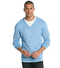 Calvin Klein Men's Linen V-Neck Sweater