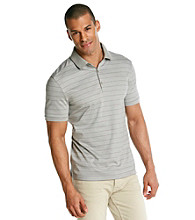 Calvin Klein Men's Gracious Grey Short Sleeve Liquid Interlock Polo