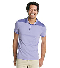 Calvin Klein Men's Madras Purple Short Sleeve Engineered Liquid Interlock Polo