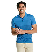 Calvin Klein Men's Short Sleeve Stripe Engineered Polo