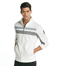Calvin Klein Men's Full Zip Mockneck French Twill Knit