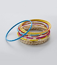 Erica Lyons® Carnival Bangle Stack