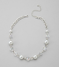 Studio Works® Crystal/Pearl Beaded Necklace