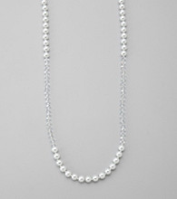 Studio Works® Long Crystal/Pearl Beaded Necklace