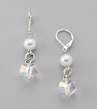 Studio Works® Crystal/Pearl Beaded Drop Earrings