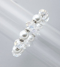 Studio Works® Crystal/Pearl Stretch Bracelet