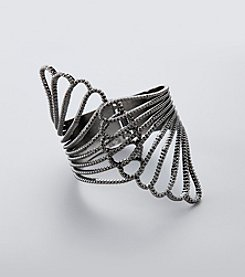 GUESS Hematite Hinged Cuff Bracelet