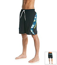 Nike® Men's Light Photo Blue Laser Stripe Splice Swim Short