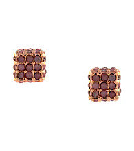 BCBGeneration™ Flirty Fringe Rose Goldtone Stud Earrings