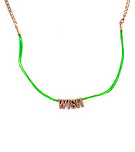 BCBGeneration™ Green and Rose Goldtone Wish Mini Affirmation Necklace