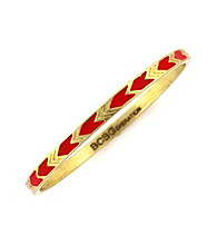 BCBGeneration™ Goldtone and Red Chevron Bangle