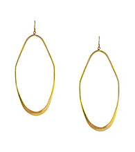 BCBGeneration™ Goldtone Kite Open Hoop Earrings