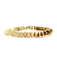 BCBGeneration™ Goldtone Stacked Pyramid Stretch Bracelet