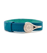 BCBGeneration™ Turquoise and Silvertone Hook Bracelet