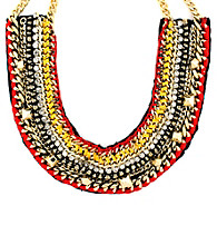 Vince Camuto® Neutral, Red and Goldtone Statement Necklace