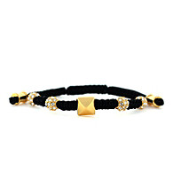 Vince Camuto® Black and Crystal Macrame Bracelet