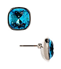 Givenchy® Aqua Button Earrings