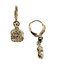 Givenchy® Goldtone Crystal Drop Earrings