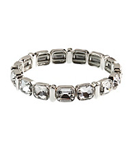 Anne Klein® Silvertone and Crystal Bracelet