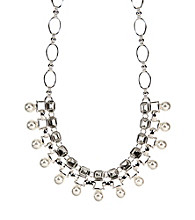 Anne Klein® Silvertone Drama Necklace