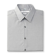 Perry Ellis Portfolio® Men's Keystone Grey Long Sleeve Slim Fit Dress Shirt