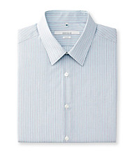 Perry Ellis Portfolio® Men's Azzure Long Sleeve Slim Fit Stripe Dress Shirt