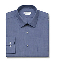 Van Heusen® Men's Deep Navy Long Sleeve Mini Check Pattern Dress Shirt