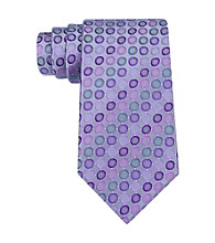 Kenneth Cole REACTION® Men's Taupe Vezzo Dot Silk Tie