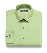 Kenneth Cole REACTION® Men's Chartreuse Green Long Sleeve Slim Fit Solid Dress Shirt