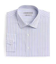 Geoffrey Beene® Men's Sky Blue Long Sleeve Regular Fit Stripe Dress Shirt