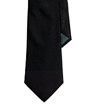 Lauren® Men's Black Solid Silk Tie
