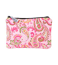 The Bumble Collection Multi-Use Zipper Bag - Pink Paisley