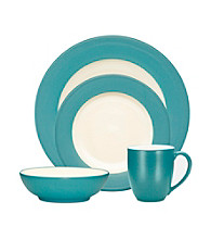 Noritake Colorware 4-pc. Turquoise Rim Place Setting