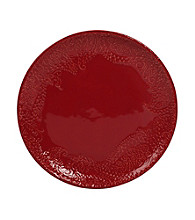 Gallery® Red Paisley Round Dinner Plate